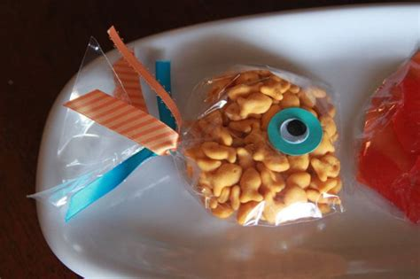 goldfish themes goldfish snack or favor bags kcommunicated com so cute