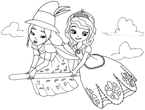 sofia coloring pages lucinda sofia disney colors colour book