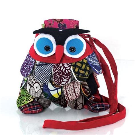 Owl Bag Multi Fungsi fabric outdoor multi pattern small owl cross
