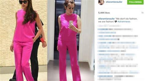 vorhänge pink pakai baju nge pink olla ramlan mirip beckham