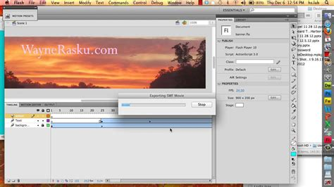 flash tutorial web banner add a flash animation as your web page banner youtube