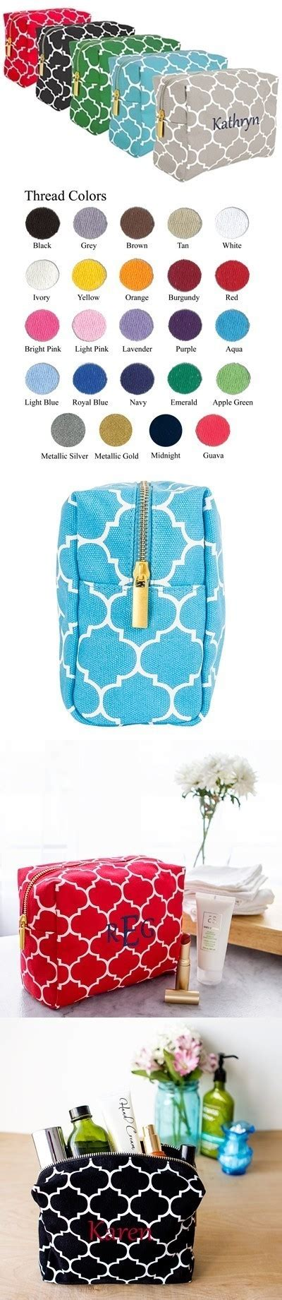 Bao2 Cosmetic Pouch 2164 cathy s concepts personalized moroccan lattice cosmetic bag 5 colors personalized gifts and