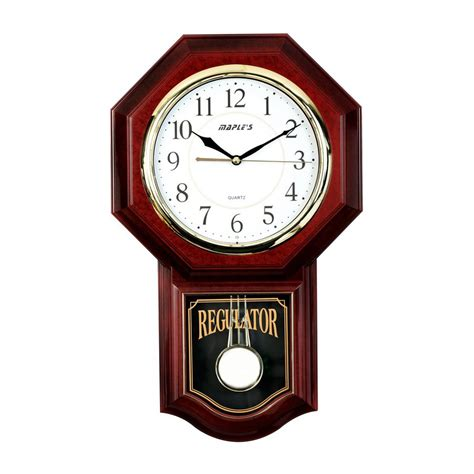 Tensi Abntm Clock Mobile Model shop maple s pendulum analog indoor wall clock at lowes