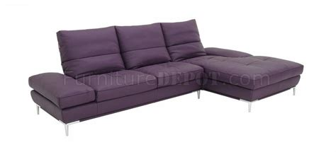 adjustable back sectional sofa purple leather modern sectional sofa w adjustable back rests