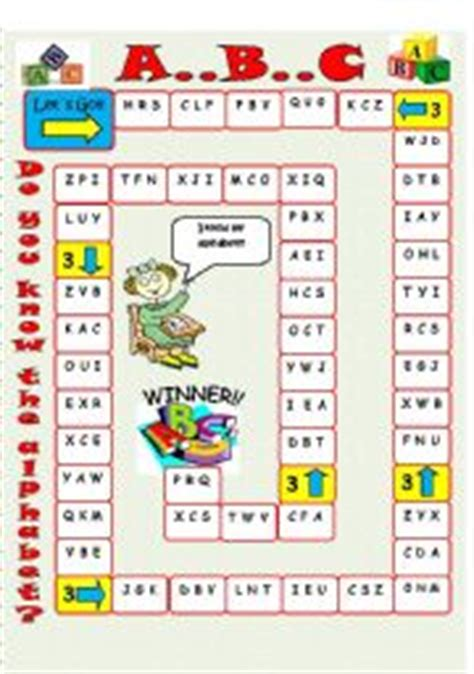 printable alphabet board games english teaching worksheets alphabet games