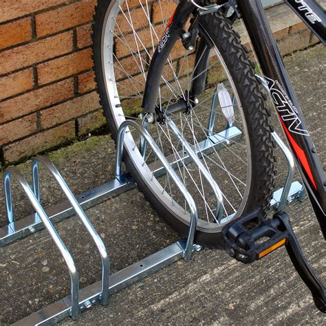 Locking Bike Rack For Garage by 2 3 4 5 Bike Wall Floor Storage Locking Stand Garage