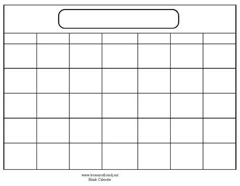 Printable Blank Calendar Template free printable calendar templates for printable