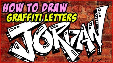 draw graffiti letters jordan mat youtube