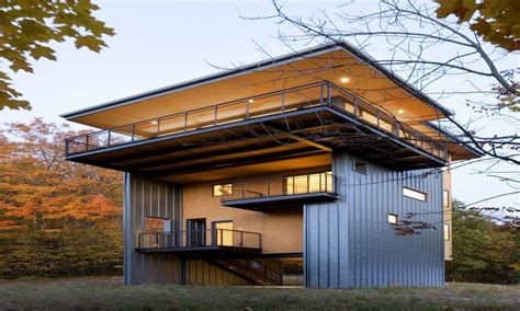 modern lakefront cabin in idaho usa glen lake tower house towerhouse lake cottage design