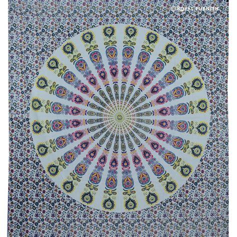 tapestry bedding royal blue yellow bohemian throw mandala tapestry bedding bedspread royalfurnish com