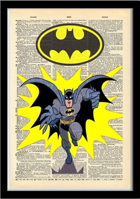printable batman poster vintage batman poster dictionary style print by