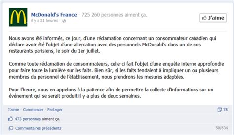 Lettre De Motivation De Macdonald Mcdonald S Vs Le Blogueur Handicap 233 Les 4 Ingr 233 Dients Du Parfait Bad Buzz Le Plus