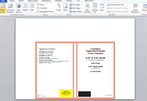 lightning source cover template how to make a print book cover in microsoft word for