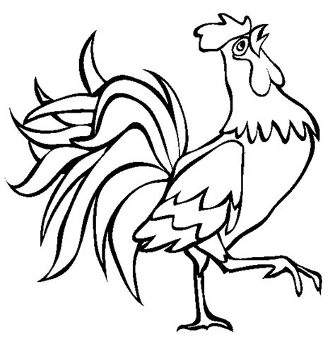 printable rooster images free coloring pages of te rooster