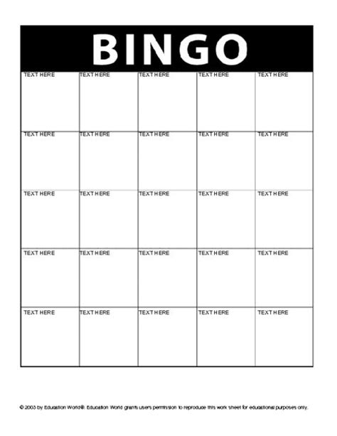 breaker bingo card template use for student bingo get to you september back to