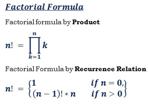 calculator factorial factorial of a number n formula calculator
