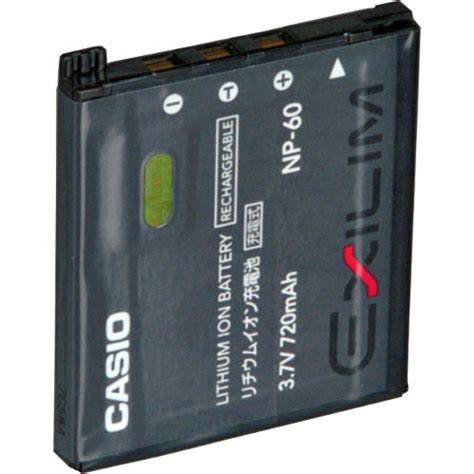 Charger Casio Bc 60l Oem casio np 60 rechargeable lithium ion battery 3 7v 720mah