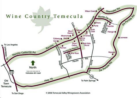 map of temecula temecula wine maps california winery advisor
