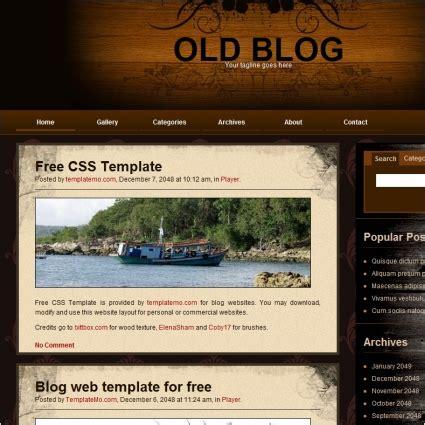 templates for blog website free download old blog free website templates in css html js format