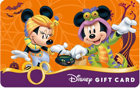 Disney Gift Cards Disneyland Paris - celebrate halloween with new disney gift card designs disney parks blog