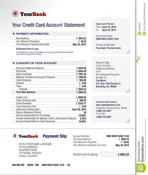 credit card billing statement template application letter to bank for bank statement