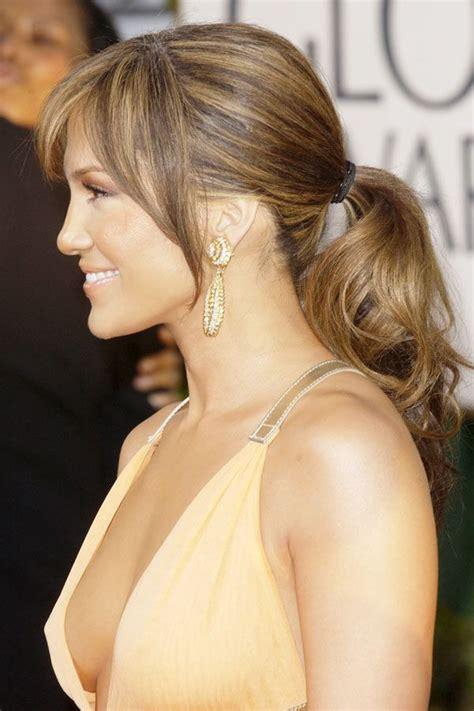hair styles in two ponies http www celebritycart com jennifer lopez new ponytail