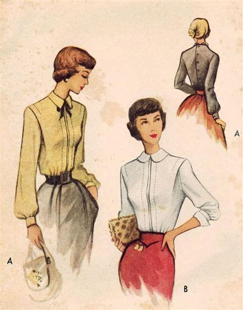 vintage pattern blouse 1082 best vintage skirt blouse patterns images on pinterest