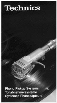 Technics Phono Pickup Systems - - Full Colour Product