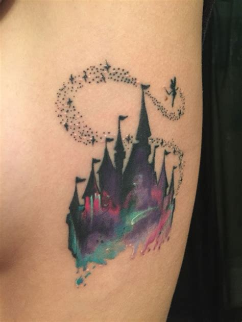 watercolor tattoo victoria disney tattoos my disney castle watercolor
