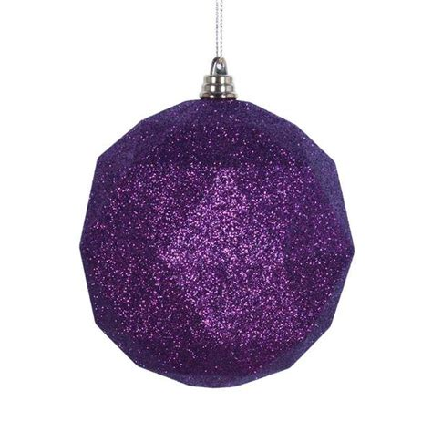 plum colored christmas balls vickerman 469392 purple colored tree ornament