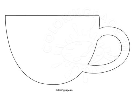 Coffee Cup Template Coloring Page Cup Template Printable