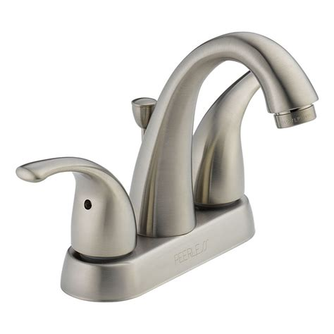 peerless p299695lf bn apex two handle lavatory faucet