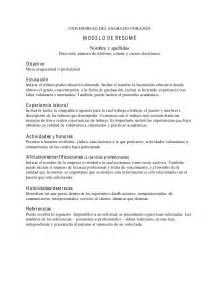 resume en espanol resume template 2017