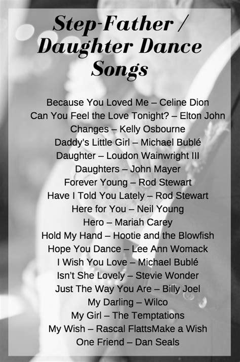 stepdad daughter wedding dance songs
