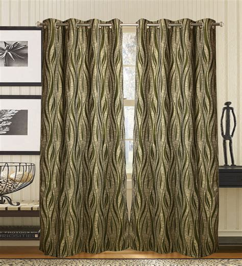 olive green curtains drapes olive green abstract design door curtains by jay fabrics