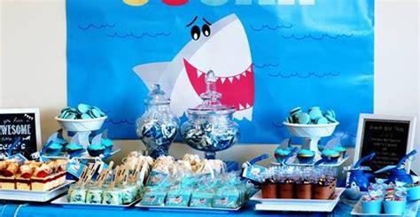 baby shark birthday party kara s party ideas shark themed birthday party ideas