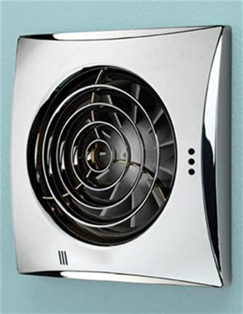 Bathroom Extractor Fan Height Hib Hush Chrome Wall Mounted Extractor Fan With Timer