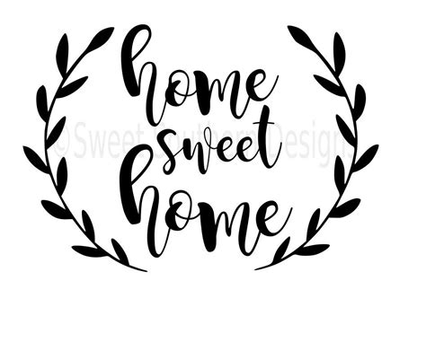 Stencils For Home Decor by Home Sweet Home Svg Instant Download Design For Cricut Or