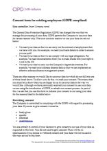 Data Protection Cipd Hr Inform Free Gdpr Consent Form Template
