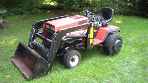 garden tractor with loader