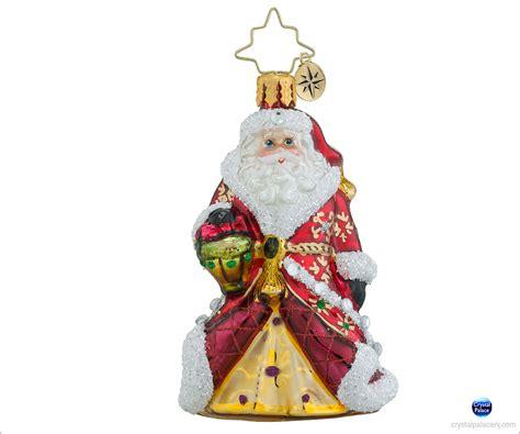 christopher radko ornaments christopher radko shimmering santa gem ornament