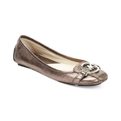 michael kors shoes fulton flats michael kors sandals in brown lyst