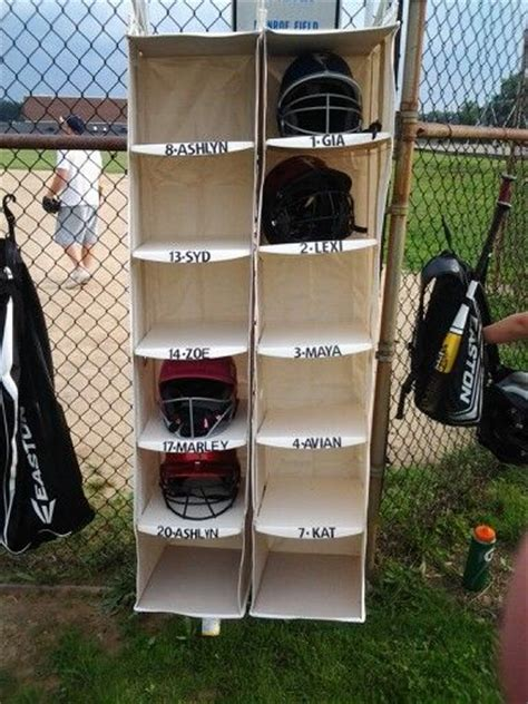 Helmet Racks For Dugouts by Organize The Dugout