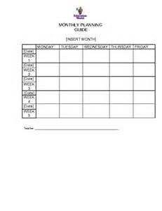 monthly lesson plan template free 18 best images of blank financial worksheet form free