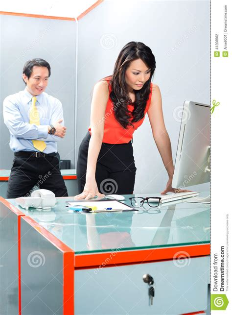 sexual harassment by in office stock photo
