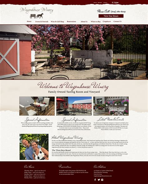 wagon house winery wagonhouse winery website design raven media website design and advertising