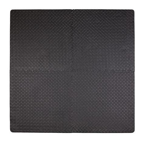 Tadpole Mat by Tadpoles Steel Plate Black 50 In X 50 In Floor Mat
