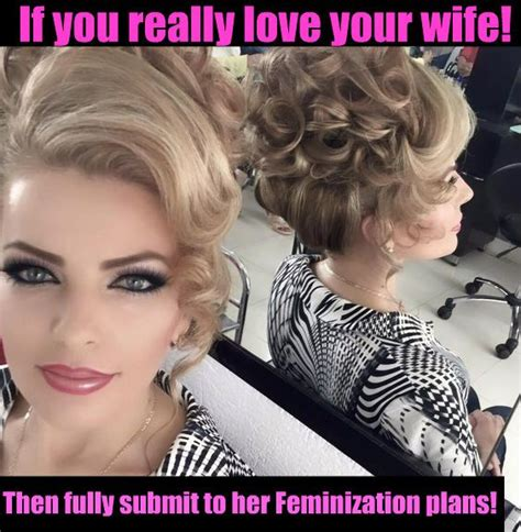 Wife Feminizes Long Hair | 19 best feminized husband captions images on pinterest