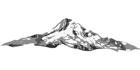 free vector graphic mountain landform sketch free