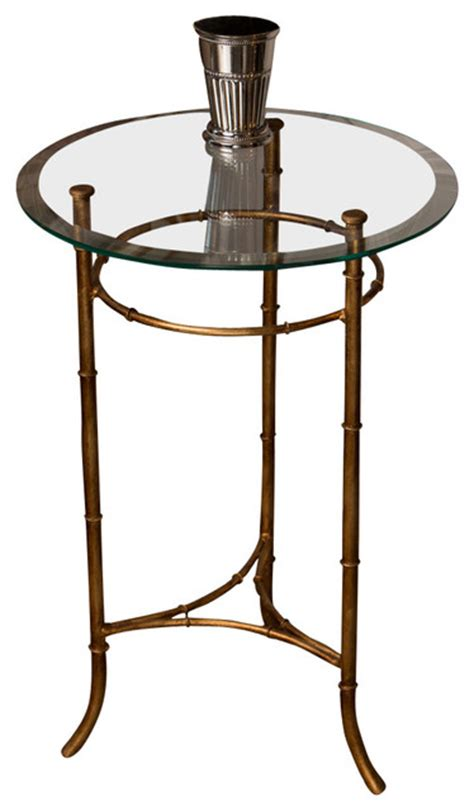 antique gold bamboo float accent table bamboo side table antique gold contemporary side